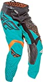Fly Racing Unisex-Adult Kinetic Trifecta Pants (Black/Teal/Orange, Size 22)