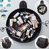 #4: Makeup Bag Fashion Toiletry Kit TOFDSD Travel Large Capacity Cosmetic Bag Portable Waterproof Zipper & Drawstrings Pouch Women Bathroom Storage