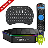 EASYTONE 2017 T95Z PLUS Android TV BOX 3GB 32GB,Android 7.1 TV Box Amlogic S912 Octa-Core,Dual-Band Wi-Fi 2.4/5.8G Smart Boxes Media TV Player Android Mini PC with Wireless Keyboard Remote (BACKLIT)