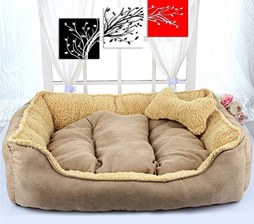 LIYONG Detachable Kennel Nest Can Separate Pet Litter Cotton Bed (Size   S)