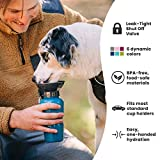 AutoDogMug HIGHWAVE Leak-Tight 22oz, Portable Dog Water Bottle for Walking Hiking and Traveling, BPA-Free Materials, Patented Leak-Proof Design (Pacific Blue)