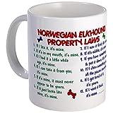 CafePress - Norwegian Elkhound Property Laws 2 Mug - Unique Coffee Mug, Coffee Cup