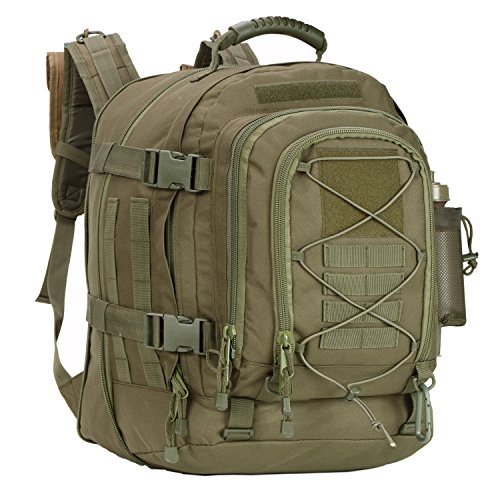 GreenCity 3 Day Expandable Tactical Backpack Military Sport Hydration Bag 64L School Big Backpack Water Resistant for Outdoor, Travel, Camping, Hiking, Hunting, Business