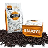 Cazengo Coffee 100% Organic Single Origin Fresh Roasted African Coffee, Ground, Dark Roasted to Perfection for a Bold Strong Taste, Awesome Brewed or Espresso, and Reusable Single Serve