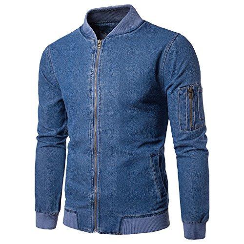 Men's Autumn Winte Jeans Solid Shirt Top Outwear Sweats Coat Jacket