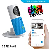 3T Cleverdog Indoor Mini WiFi Network Camera IP Wireless Camera Motion Detective with IR Night Vision Support iPhone Android APP Remote View Loop Recording (INDOOR, BLUE)