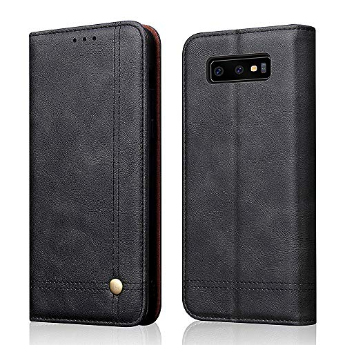 Galaxy S10 Case,[Magnetic Closure] PU Leather Wallet Flip Protective Cover with Kick Stand Function Cash/Card Slot Folio Case for Samsung Galaxy S10 - - Closure Leather Magnetic