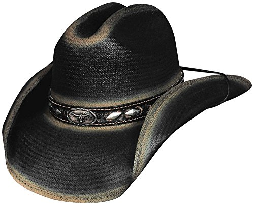 Bullhide Montecarlo LITTLE BIG HORN Shantung Panama Western Hat Medium Black from MonteCarlo Hat Co.