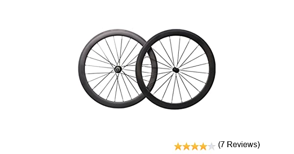 50mm Aero 700C Carbono Bicicleta Carretera Ruedas Clincher Racing ...