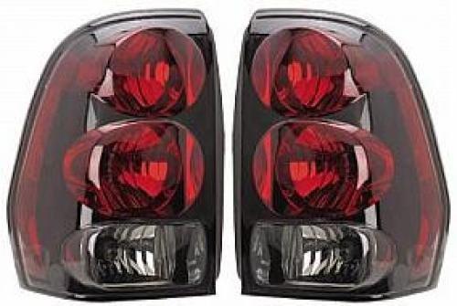 (Go-Parts PAIR/SET OE Replacement for 2002-2009 Chevrolet (Chevy) Trailblazer Rear Tail Lights Lamps Assemblies/Lens / Cover - Left & Right (Driver & Passenger) for Chevrolet Trailblazer)