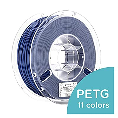 Polymaker PolyLite 3D Printer Filament, PETG Filament, 1.75mm Filament, 2.2lb(1Kg) with 11 Colors [Random Outer Packaging]…