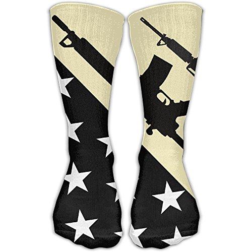 DaCrew Gun Usa Flag Black Unisex Novelty Crew Socks Ankle Dress Socks Fits Shoe Size - Buy Online Usa