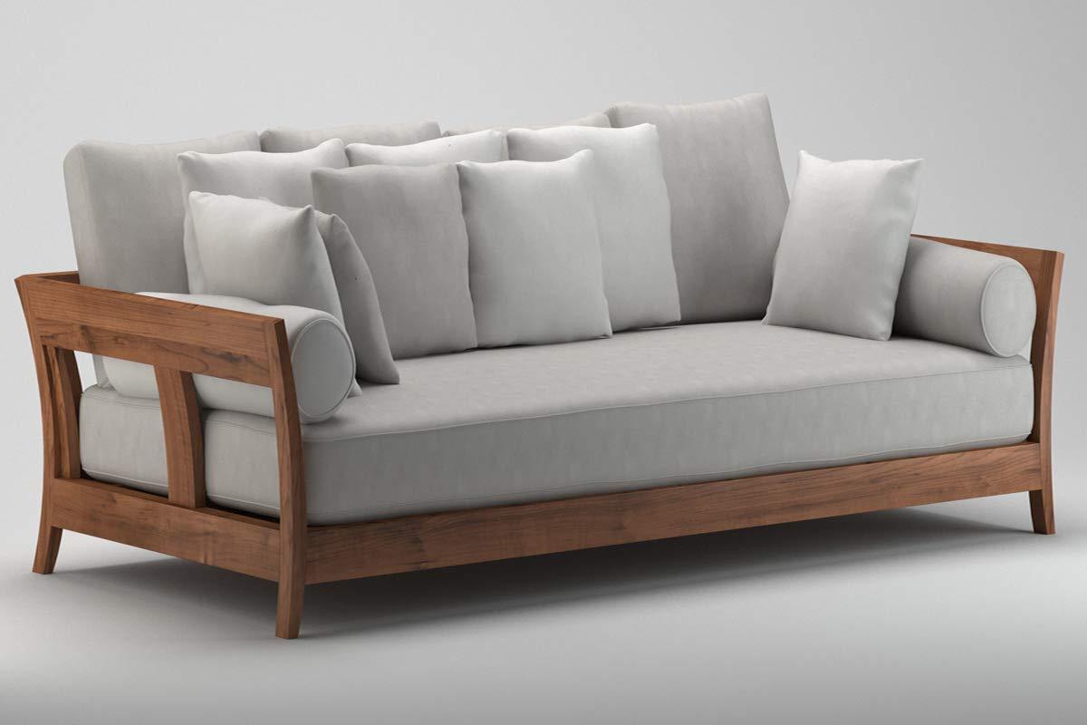 India Craft Furniture Sheesham Wooden Sofa Set Without