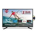 Ferguson F3220RTSF 32 inch Smart LED TV/DVD Download Apps Netflix, Black