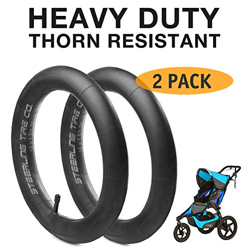 [2-Pack] 12.5'' x 1.75/2.15 Heavy Duty Thorn Resistant Front Inner Tire Tube of All BOB Revolution Strollers, Stroller Strides and CE & AW - The Perfect BOB Stroller Tire Tube Replacement ()