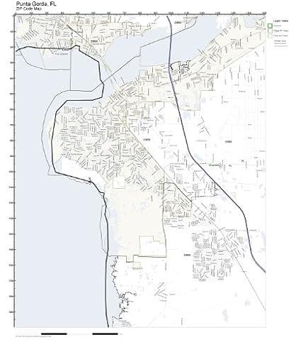 Amazon.com: ZIP Code Wall Map of Punta Gorda, FL ZIP Code Map Not
