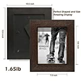 EosGlac Rustic Picture Frame 8x10, Weathered Dark