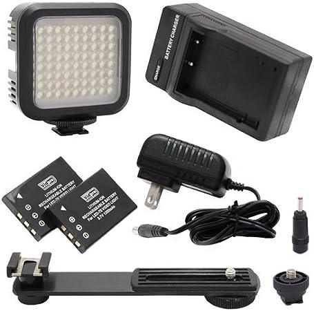 Canon Legria HF R46 Camcorder Lighting 5600K Color Temperature 72 LED Array Lamp Digital Photo /& Video LED Light Kit