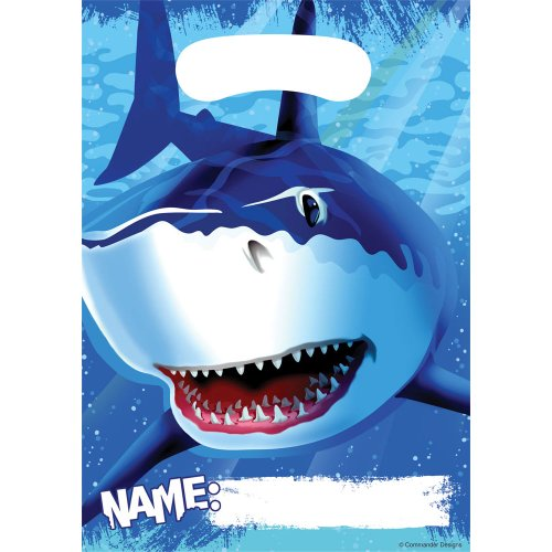 (8-Count Party Loot Bags, Shark)