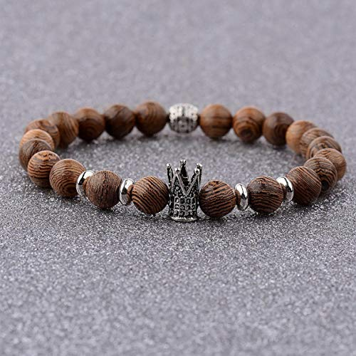Werrox Charm Natural Lava Stone Gemstone Beads Buddha Head Lions Head Mens Bracelets | Model BRCLT - 2778 | (Charity Locator)