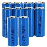 10pk 3.2V 800mAh 18500 Li-FePO4 Rechargeable Batteries For Solar Lights Garden Lights , Security System Panels, LED Flashlights FAST USA SHIPPING