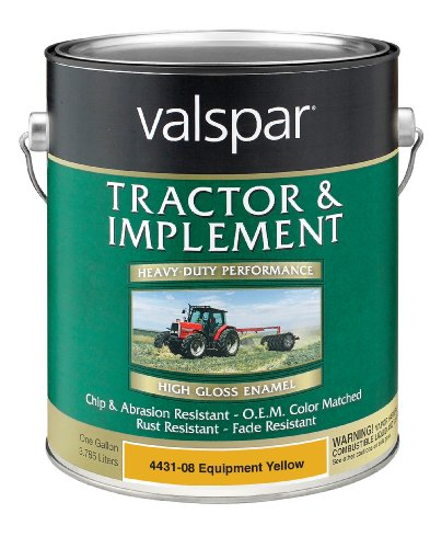 Valspar 4431-08 Equipment Yellow Tractor and Implement Paint - 1 Gallon - Equipment Paint