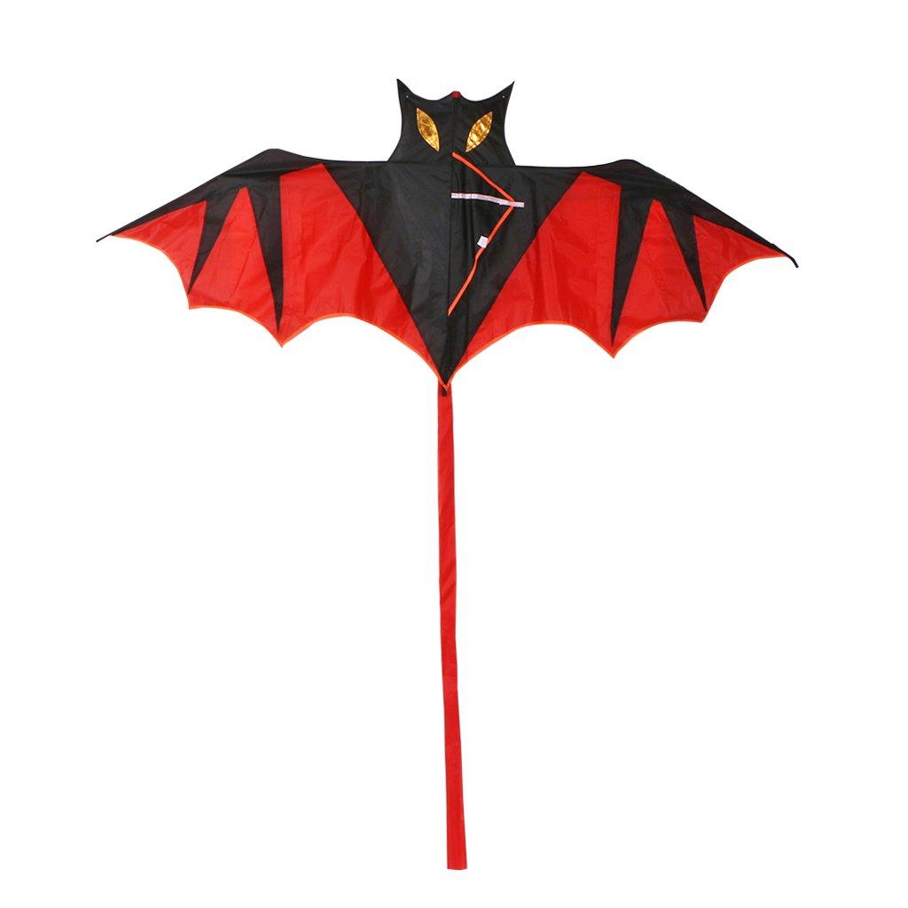 HOWWOH 子供用カイト クールなコウモリ 凧 アウトドアカイト 子供用凧 B07PXJL23R
