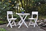 Adams Manufacturing 8590-48-3731 Quik-Fold Cafe Bistro Set, White