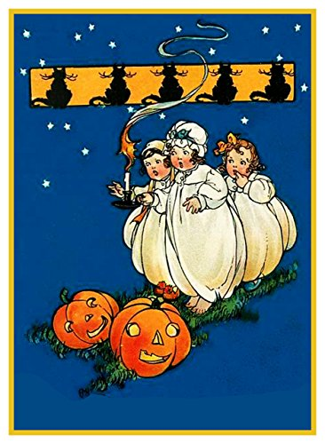 Orenco Originals Little Girls Jack O Lanterns Halloween