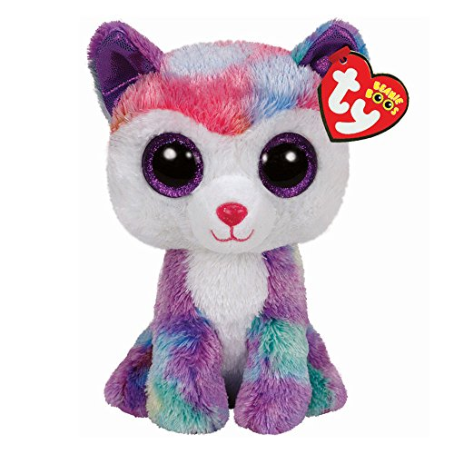 New Ty Beanie Boos ELFIE the Elephant Multi-Colored JUSTICE exclusive 6/""