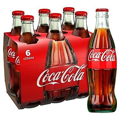 Botella Coca-Cola original de cristal 6 x 330ml: Amazon.es: Alimentación y bebidas