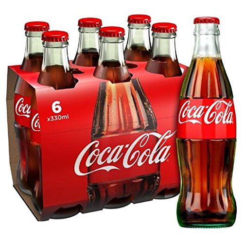 Botella Coca-Cola original de cristal 6 x 330ml