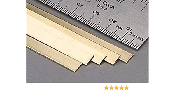 K/&S Precision Metals 9721 Brass Strip 5 pcs per Box Made in USA 0.032 Thickness x 1//2 Width x 36 Length