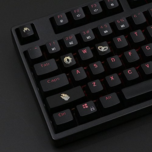 (All Decor Overwatch Theme Keycaps Hand-Engraved Resin Translucidus Backlit Key caps for Mechanical Keyboards (Cherry switches) with Gift Case - Junkrat)