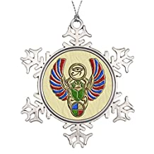 YOBSTF7s Best Friend Snowflake Ornaments Eye of Horus Scarab s Personalized Snowflake Ornaments Home