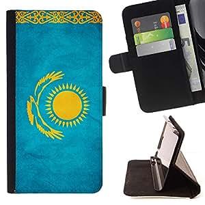 Momo Phone Case / Flip Funda de Cuero Case Cover - Nacional bandera de la nación País Kazajstán; - Apple Iphone 6
