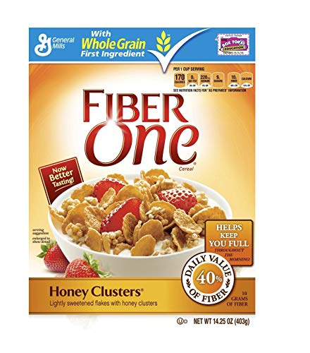 Fiber One Honey Clusters Breakfast Cereal - 60 Ounce / 1.7 Kg