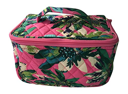 Vera Bradley Travel Cosmetic Bag (Tropical Paradise with solid blue interior)