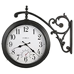 Luis Indoor / Outdoor Quartz Wall Clock in Antique Iron<br> Howard Miller 625358