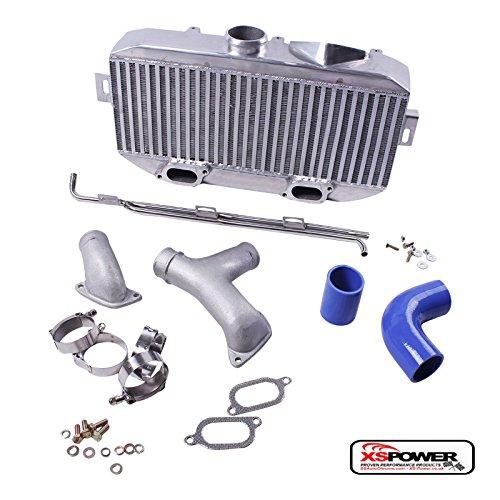 - Aluminum Top Mount Intercooler+Pipes Kit TMIC -Subaru WRX STi 02-07 EJ20 EJ25