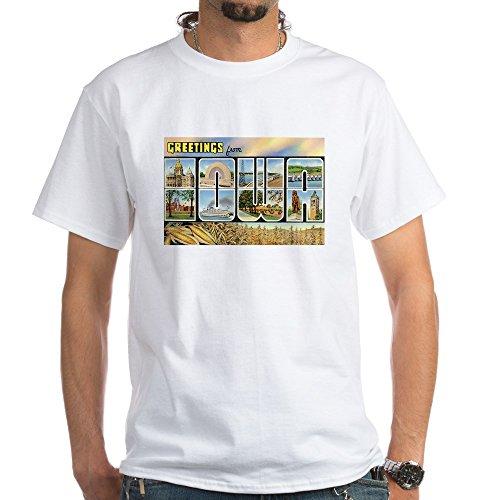 CafePress Iowa Postcard 100% Cotton T-Shirt, White