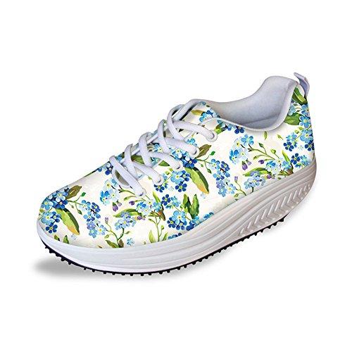 Thikin Sweety Stijl Bloemen Mesh Wiggen Schoenen Platform Sneakers # 5 Kleur