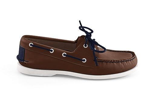 Men's Bayana Boat Shoe-Dark Brown Navy