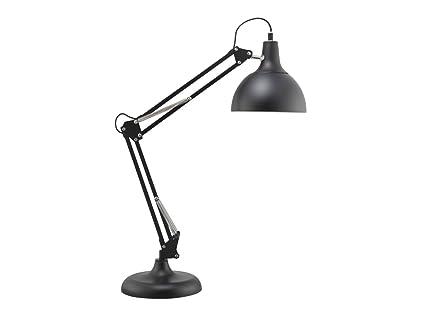 Bauhaus – Lámpara de mesa (en forma de semiesfera negro, 70 cm de altura