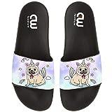 Cute Pug Unicorn Dog Summer Slide Slippers For Girl Boy Kid Non-Slip House Sandal Shoes size 2