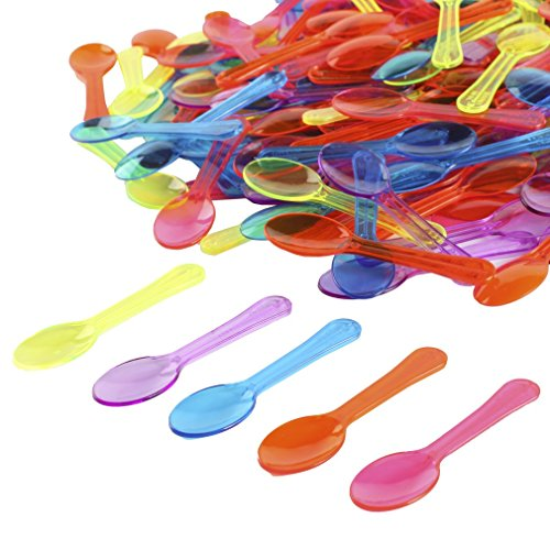 Coloured Plastic Spoons (Gmark 200pc 3