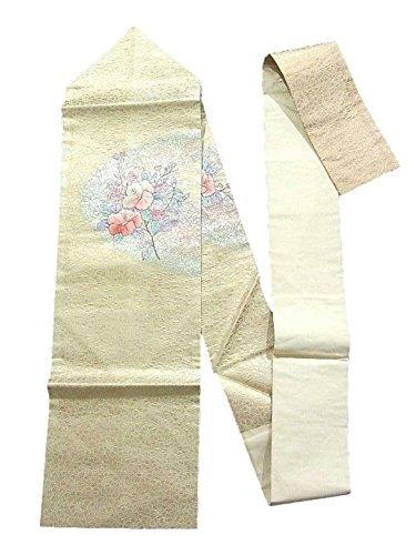 酔う締めるオデュッセウスリサイクル 名古屋帯 優美な花模様 染め 刺繍