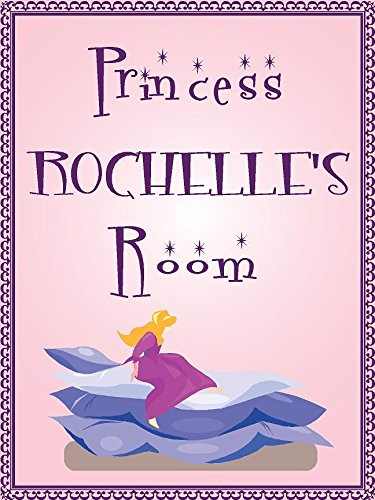 Rochelle Wall Plaque - Any and All Graphics Princess Rochelle Room Pink Design 9