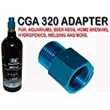 Trinity Cga 320 Aluminum Adapter for Paintball Co2 Tanks, Cga320 Male Thread Adapter for Paintball Co2 Tanks, Fast Shipping