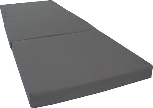 D&D Futon Furniture Gray Trifold Foam Beds